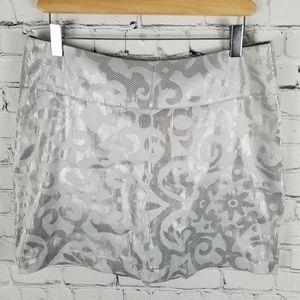 DOG DOG   metallic filigree design skirt